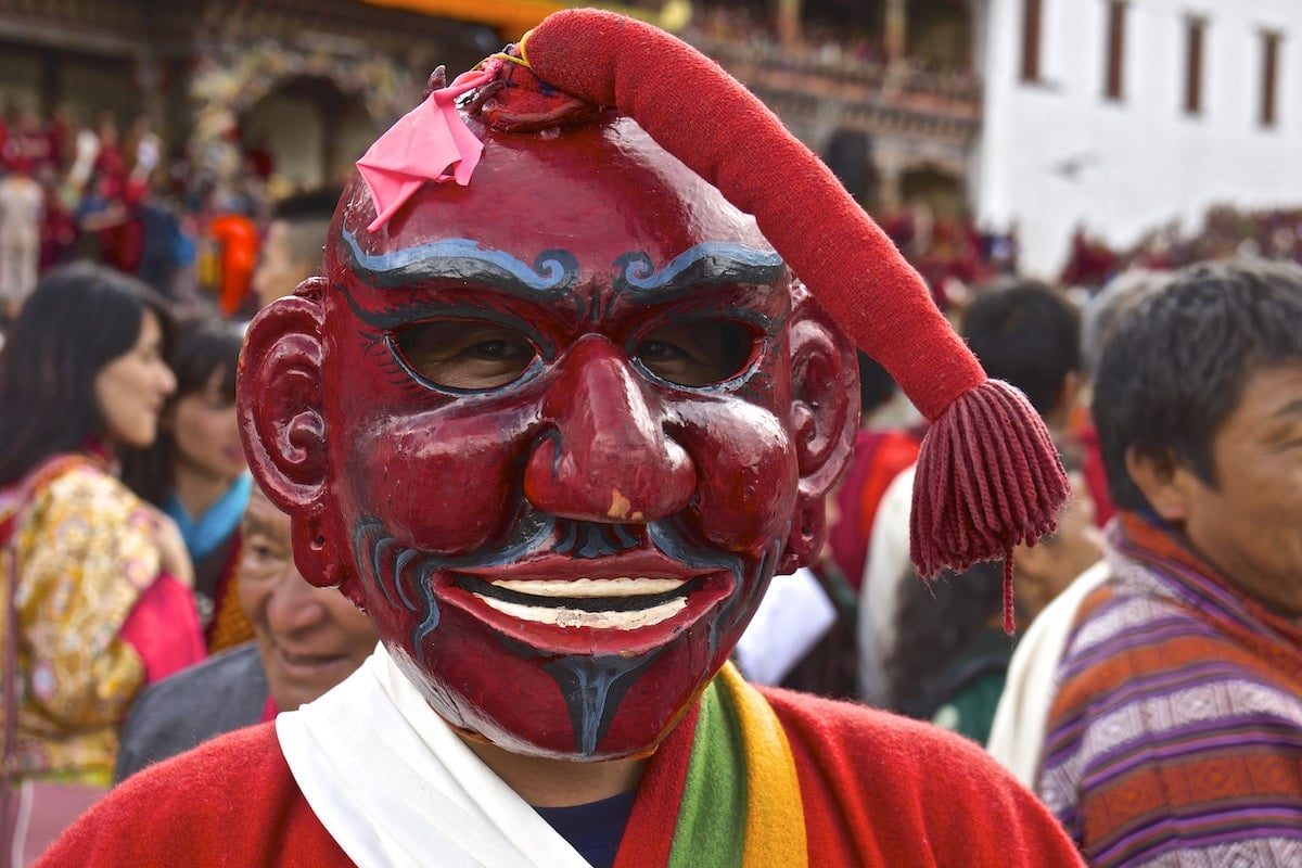 Wood Mask at Festival in Bhutan