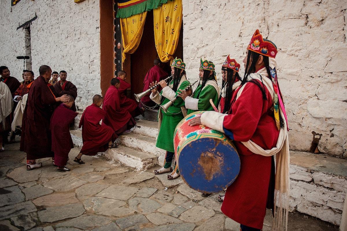 Tshechu en Butan