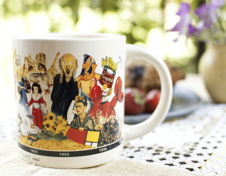 Brief History of Art Coffee Cup