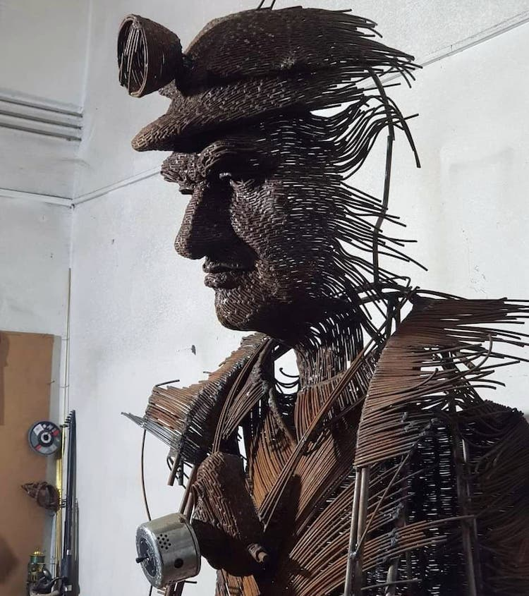 Darius Hulea Wire Sculptures