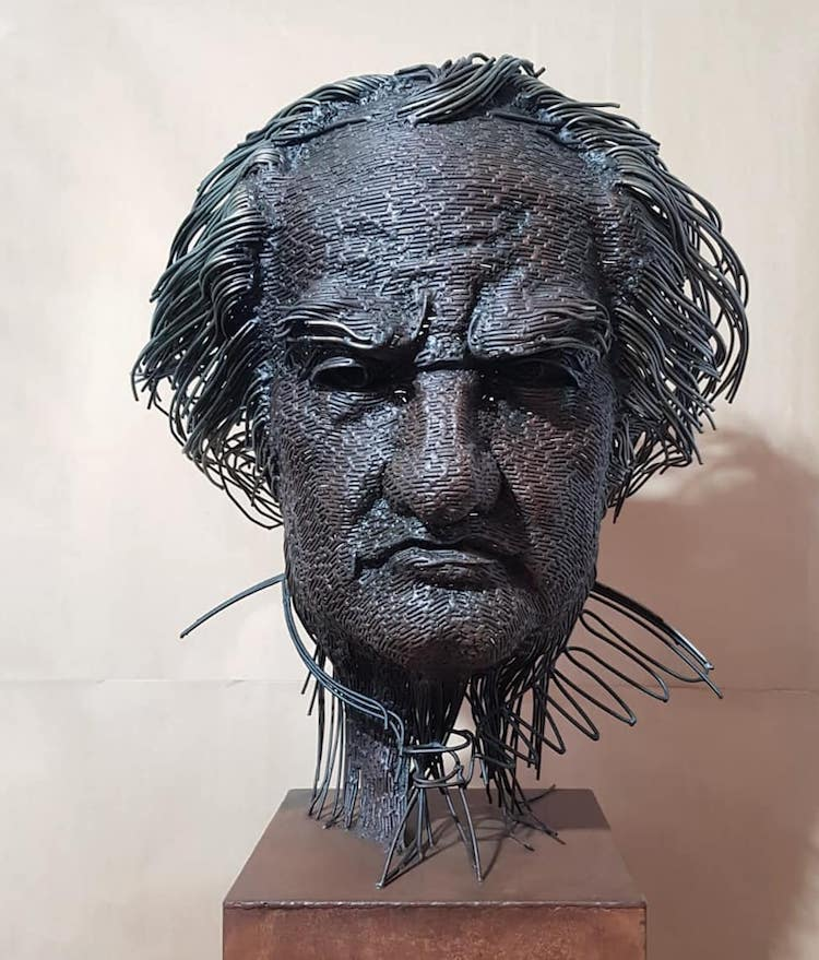 Contemporary Portrait Bust by Darius Hulea