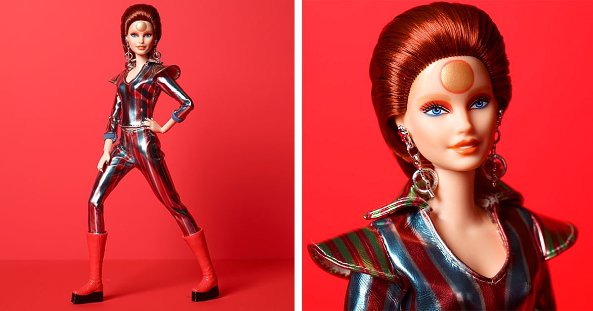 david bowie barbie doll commemorates the 50th anniversary of space oddity david bowie barbie doll commemorates