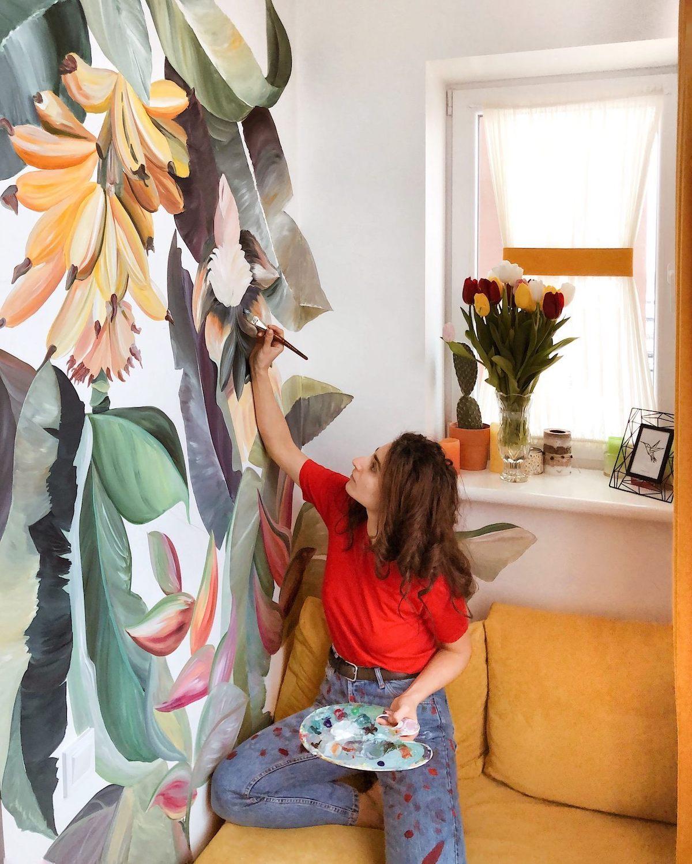 Murales de flores por Lilit Sargsyan