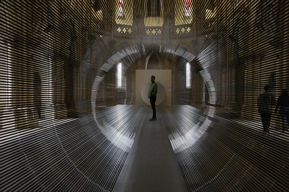 Magnetic Tape Installation by Žilvinas Kempinas