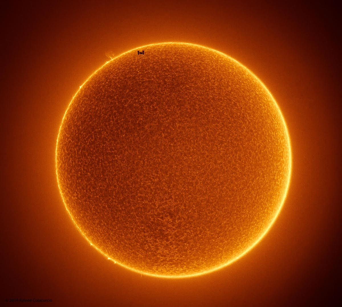 The International Space Station in Front of the Sun