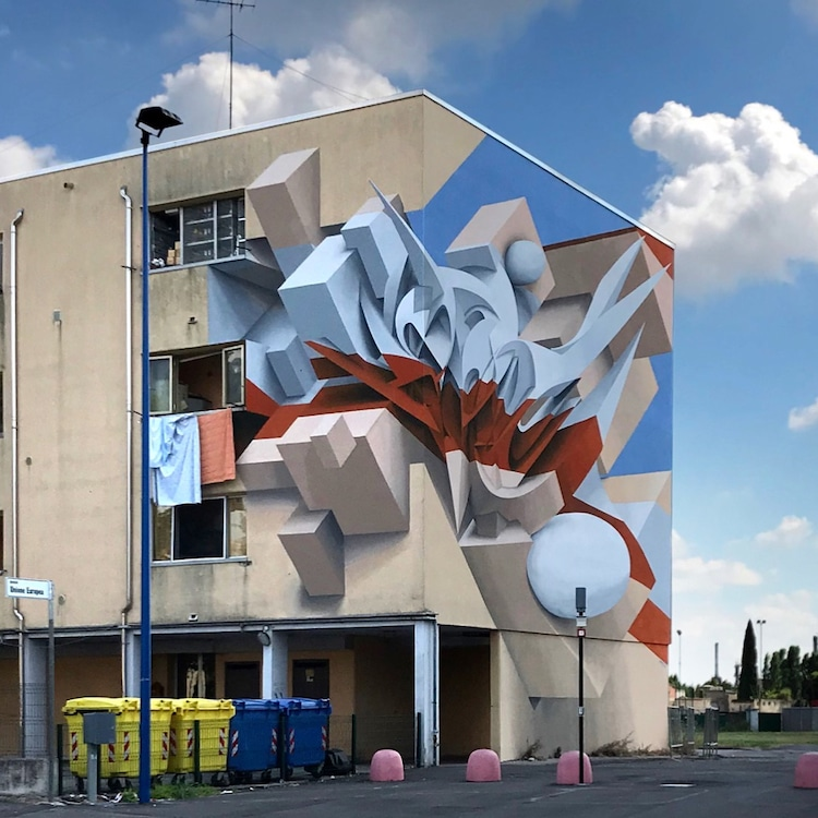 Optical Illusion 3D Mural by Peeta
