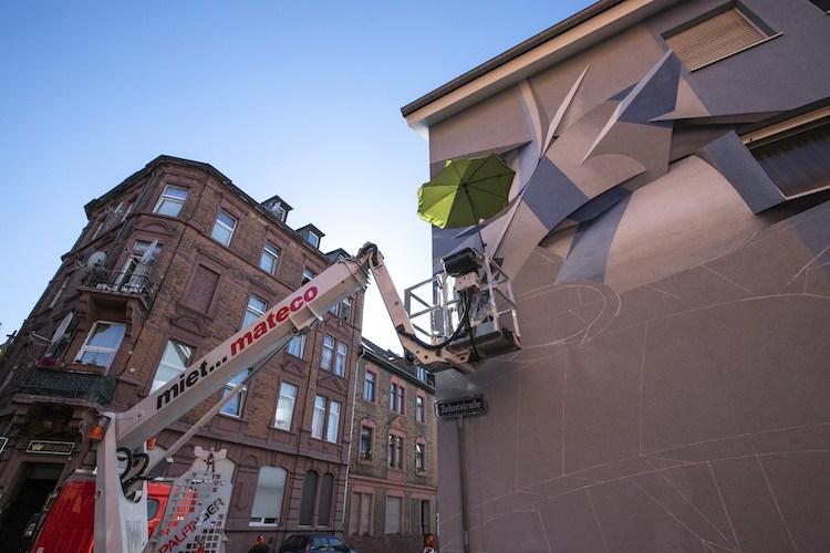 murales de ilusión óptica por Peeta