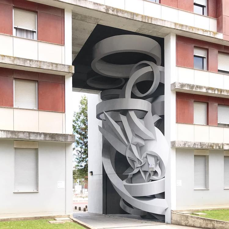 Optical Illusion Street Art by Peeta