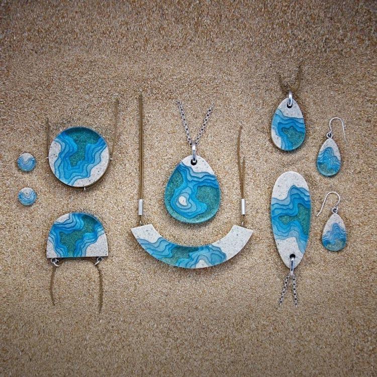Sand and Resin Jewelry by Britta Boeckmann BoldB
