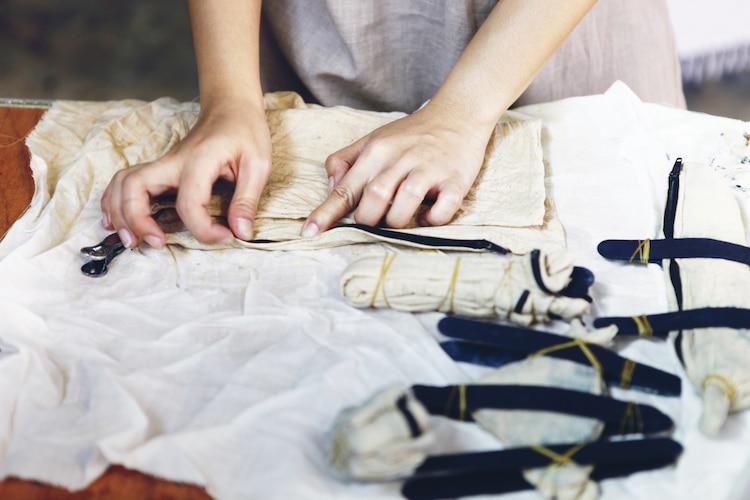Cómo teñir con la técnica shibori