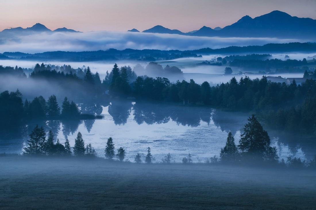 paisajes azules