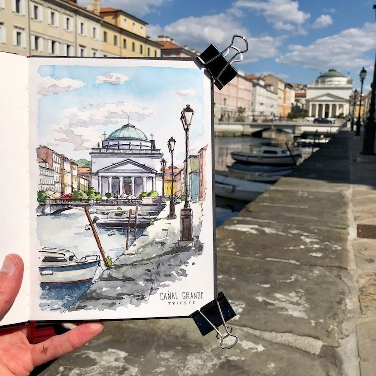 Urban Watercolor Sketching by Danny Hawk
