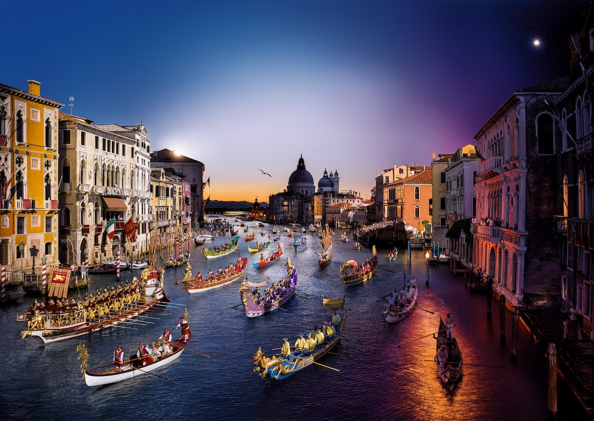Venice During the Regata Storica by Stephen Wilkes