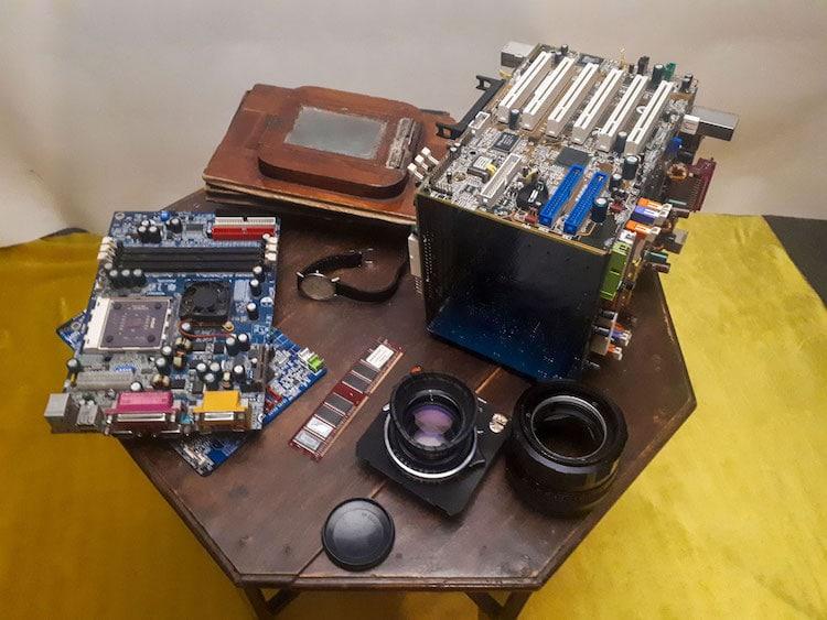 Cámara funcional hecha con un ordenador viejo