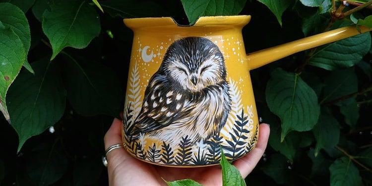 Animal Enamel Mugs by SheWolfka