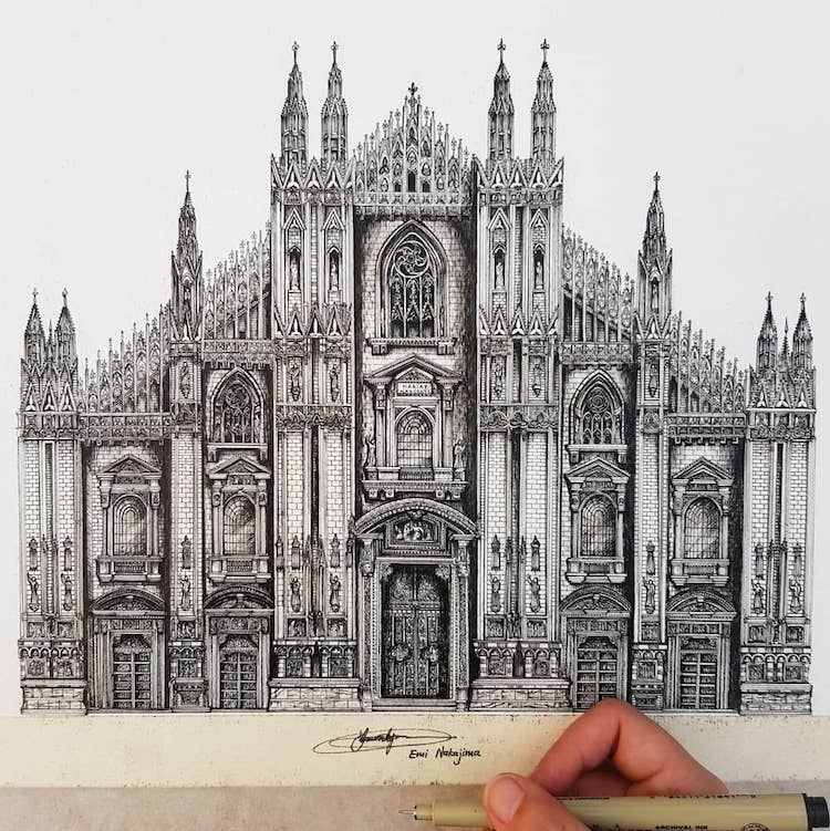 Estilo de dibujo arquitectónico
