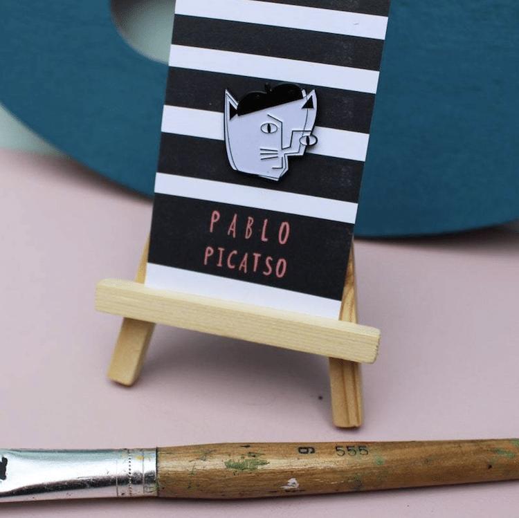 Artist Cat Pins