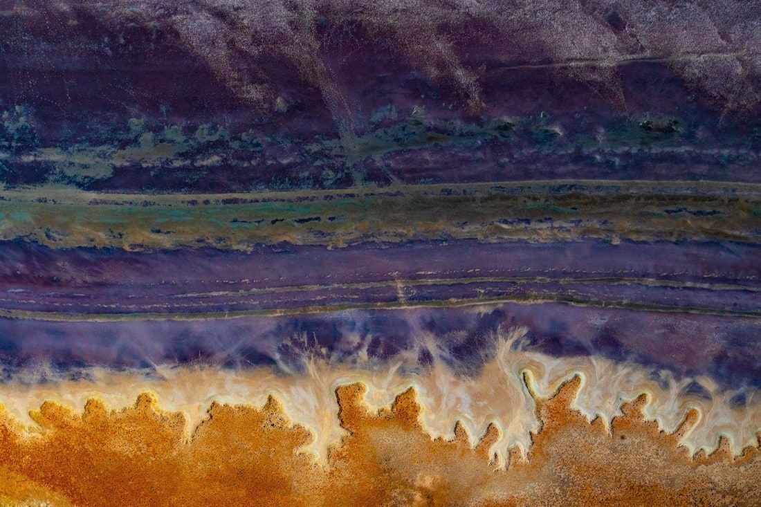 fotografía aérea de los desiertos de australia