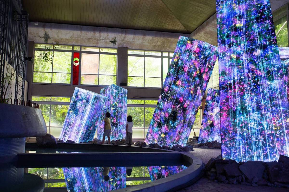 Bath House Installation Art by teamLab
