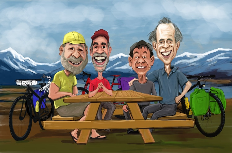 Group Caricature Drawing