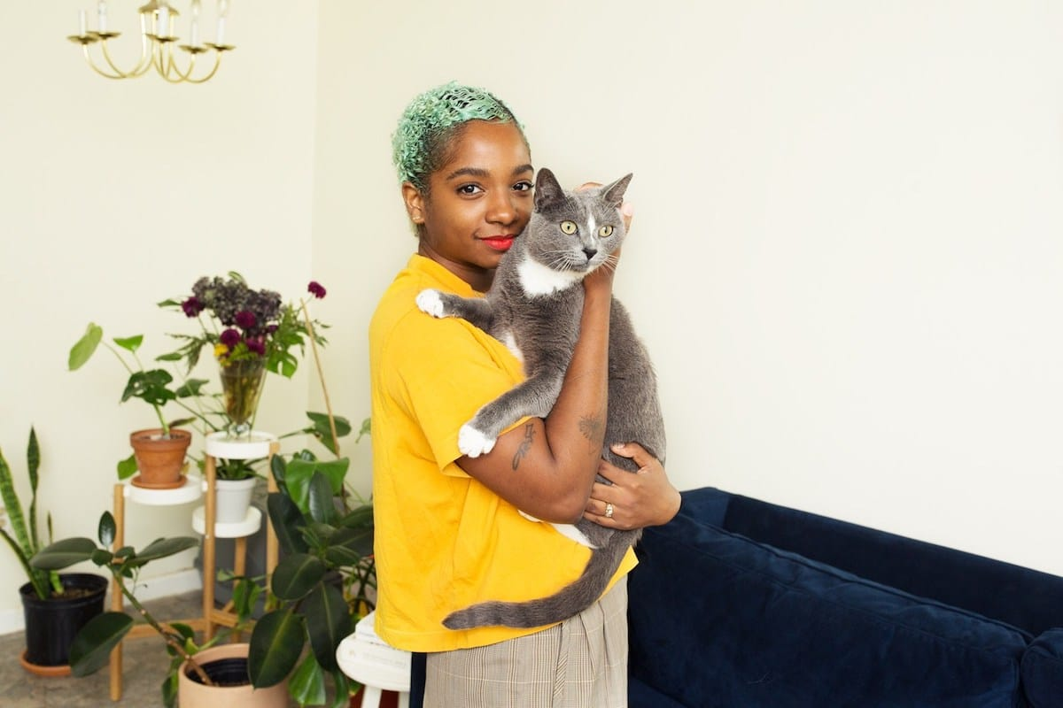 Photo of a Woman and Cat