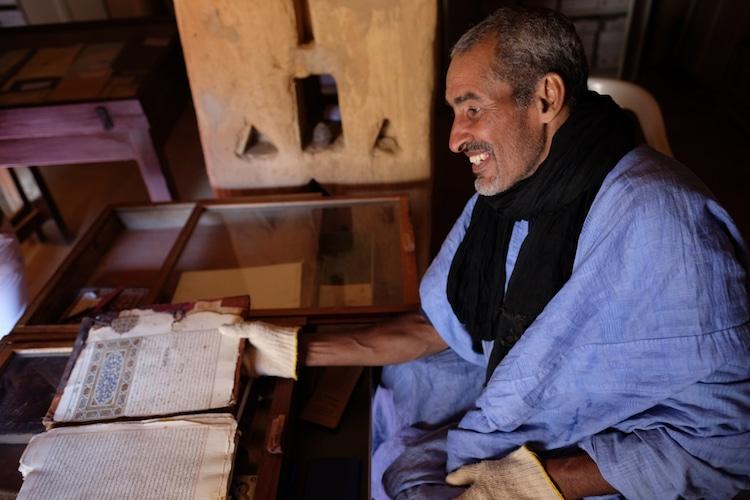 bibliotecas del desierto en Chinguetti mauritania
