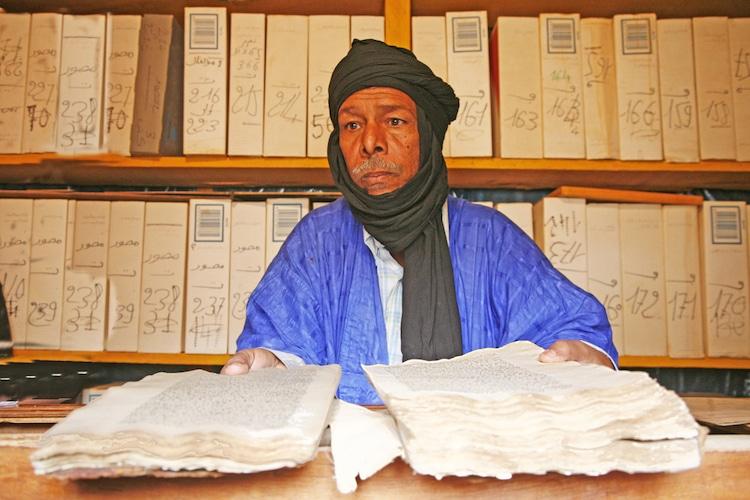bibliotecas del desierto en África