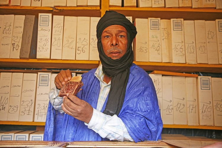 biblioteca en Chinguetti mauritania