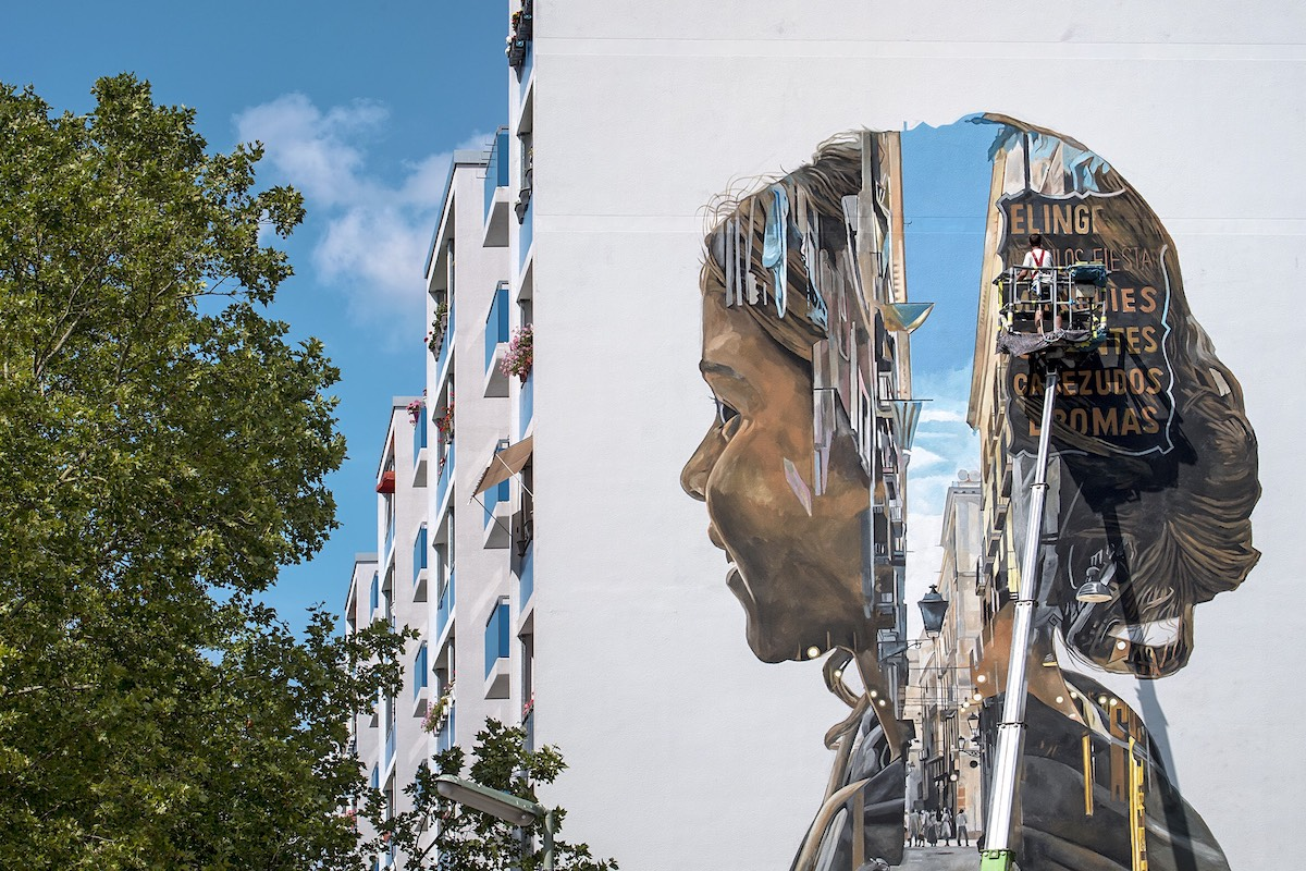 Artist Painting Mural in Berlin