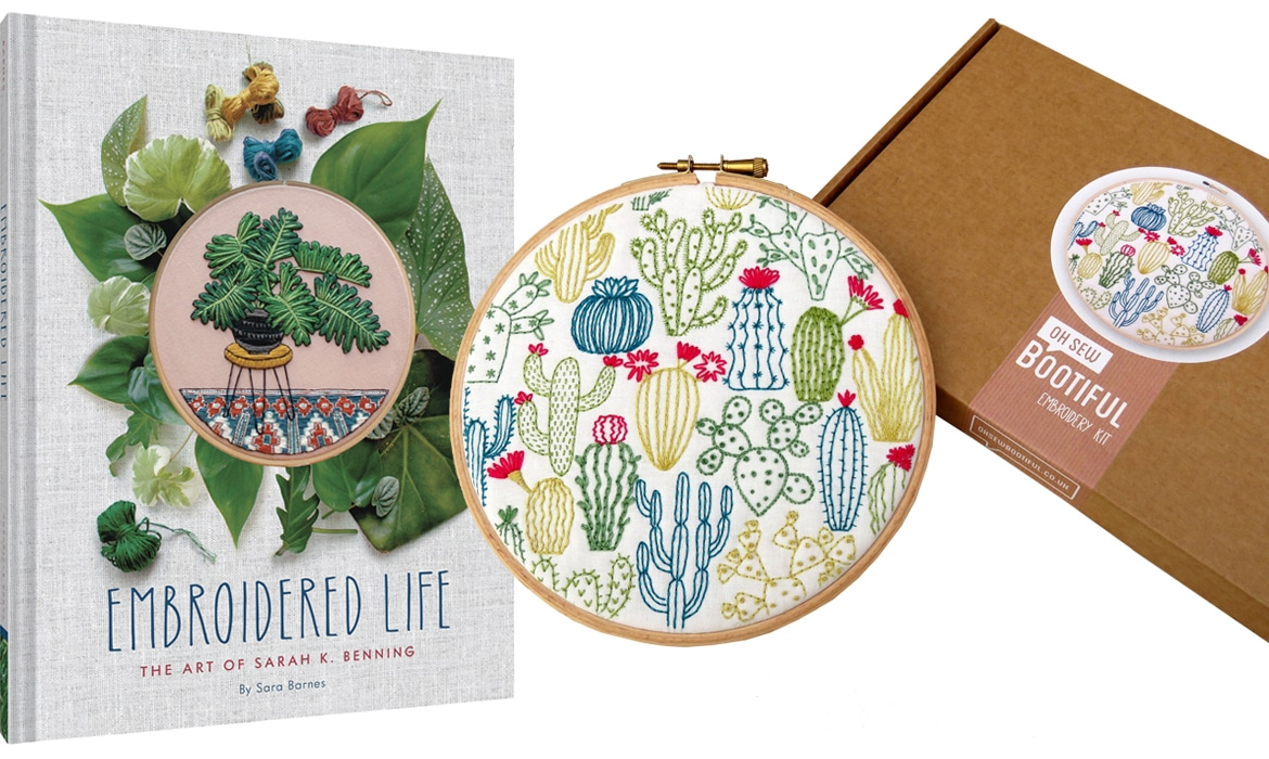 Embroidered Life Book and Embroidery Kit