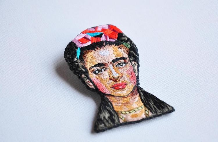 Frida Kahlo Brooch