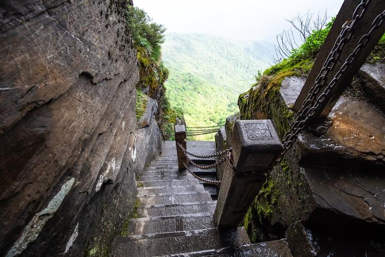 Escalones a Fanjingshan