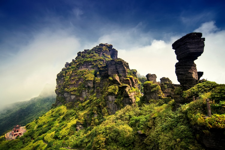 Fanjingshan en las montañas Wuling