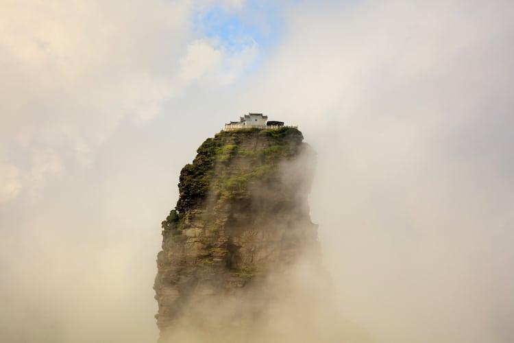 Cumbre Dorada de las Nubes Rojas en Fanjingshan