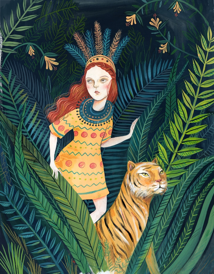 Gouache Illustrations by Helena Perez Garcia
