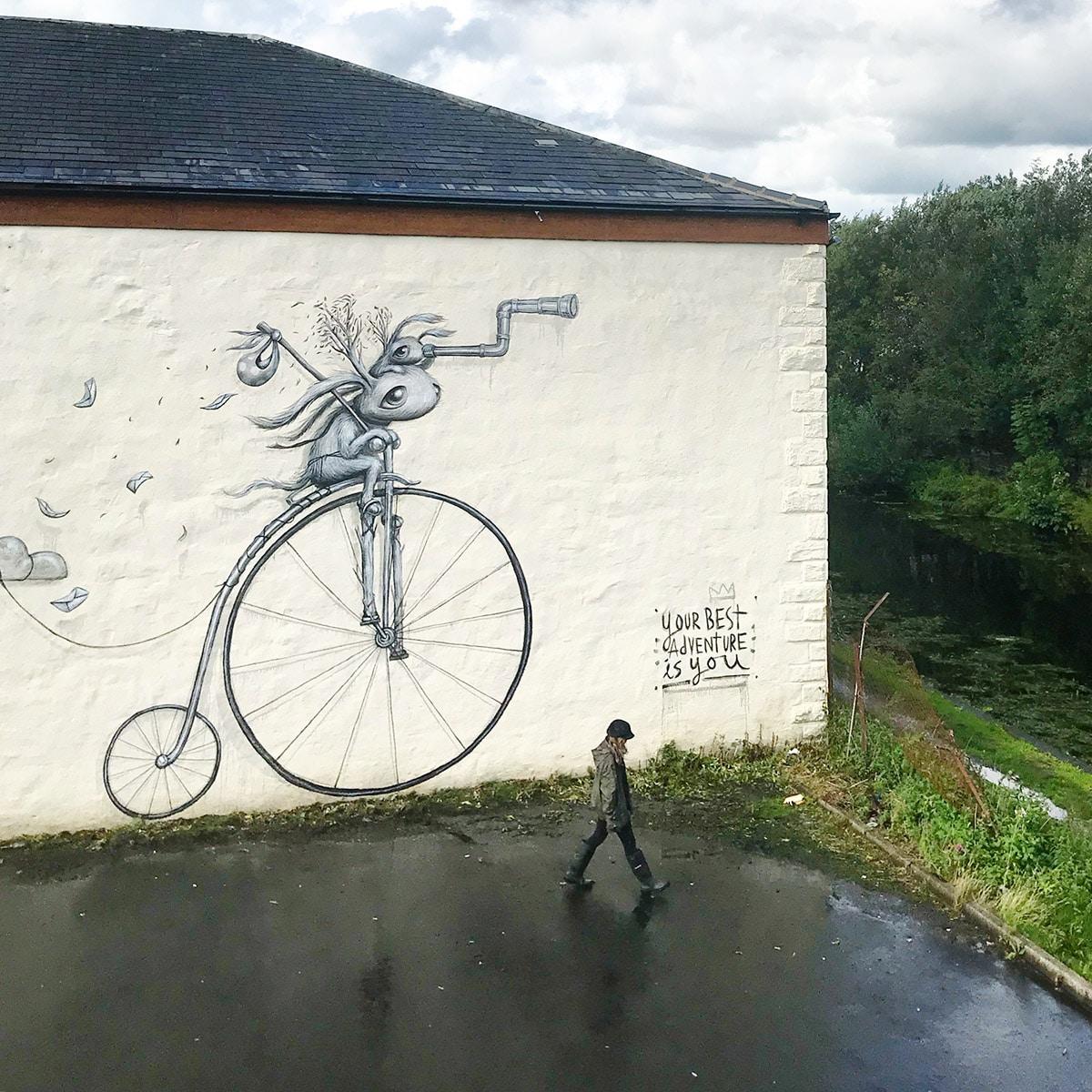 Surreal Street Art by Hayley Welsh