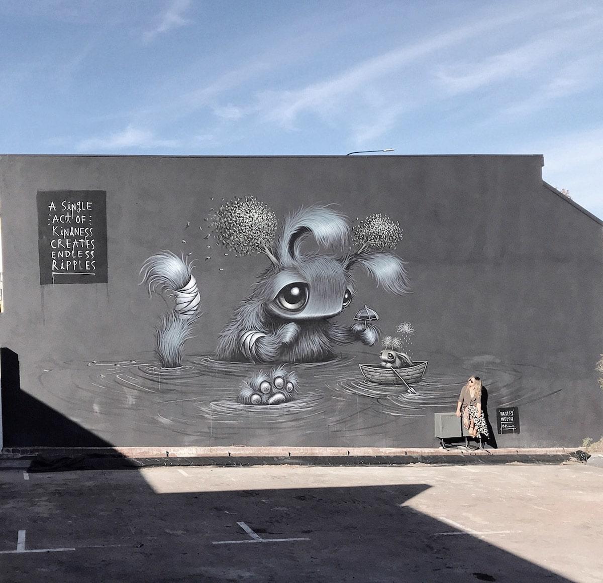 Murales callejeros surrealistas