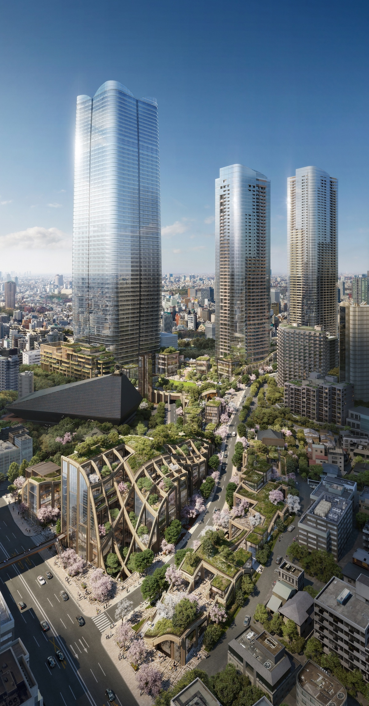 Heatherwick Studio Architecture in Toranomon-Azabudai District Tokyo