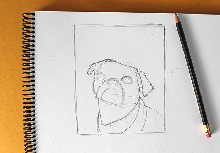 como dibujar un perro