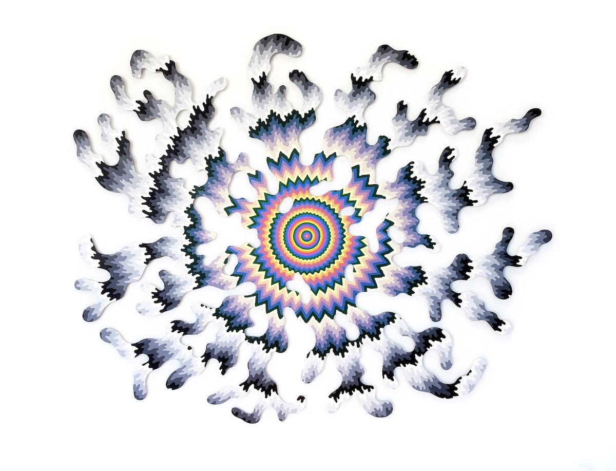 Arte óptico de Jen Stark