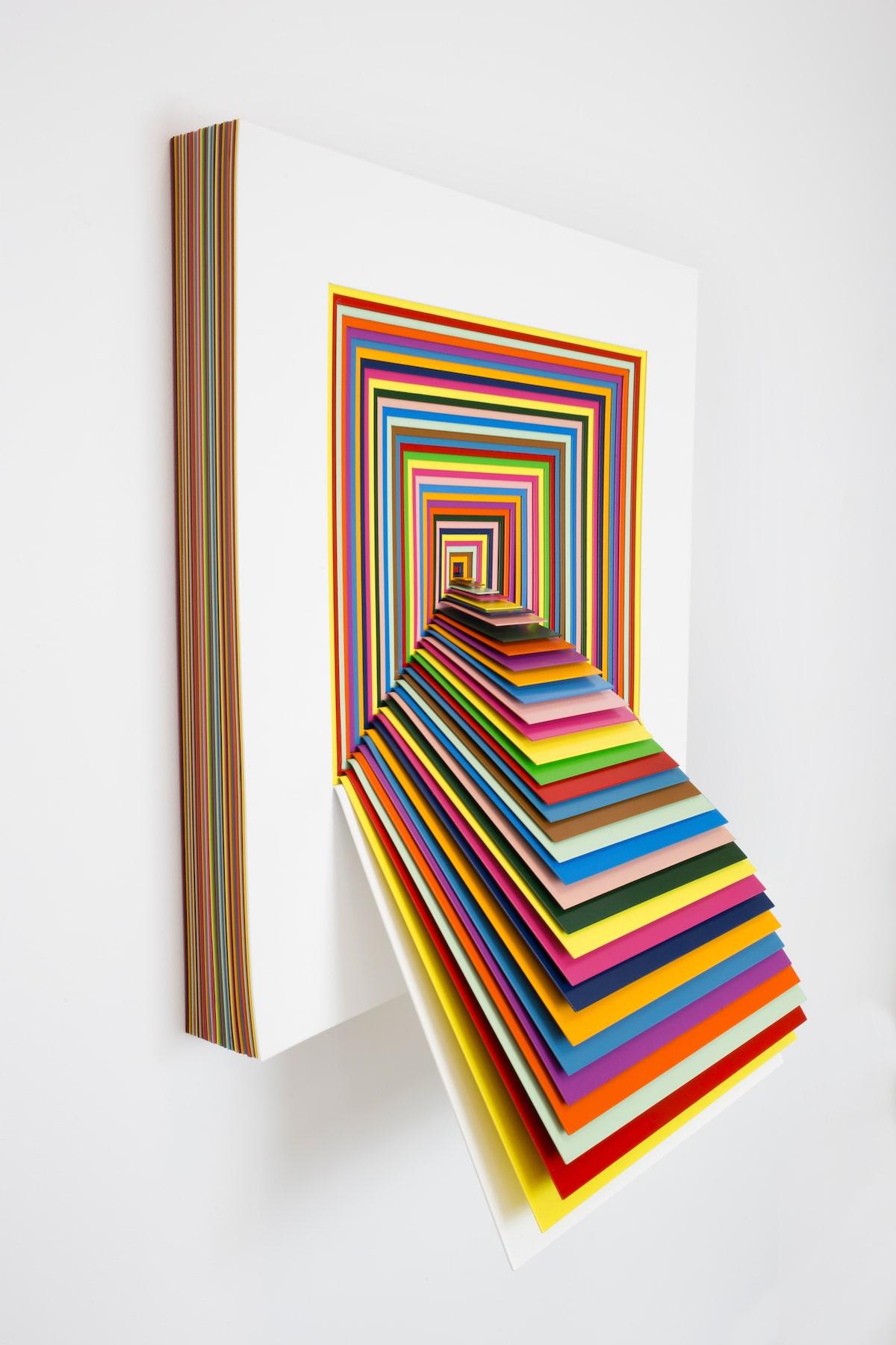 Optical Illusion Art by Jen Stark