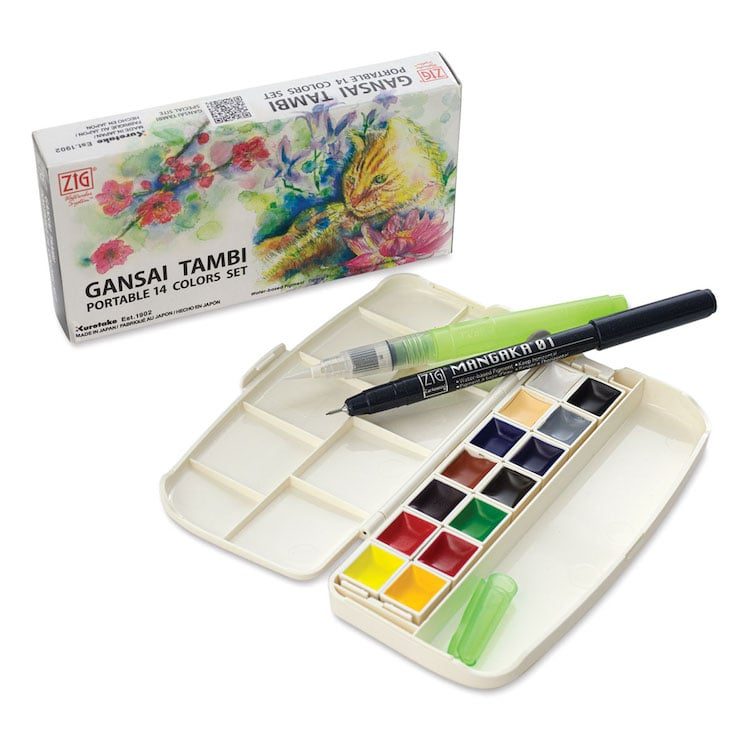 Kuretake Watercolor Paint Set