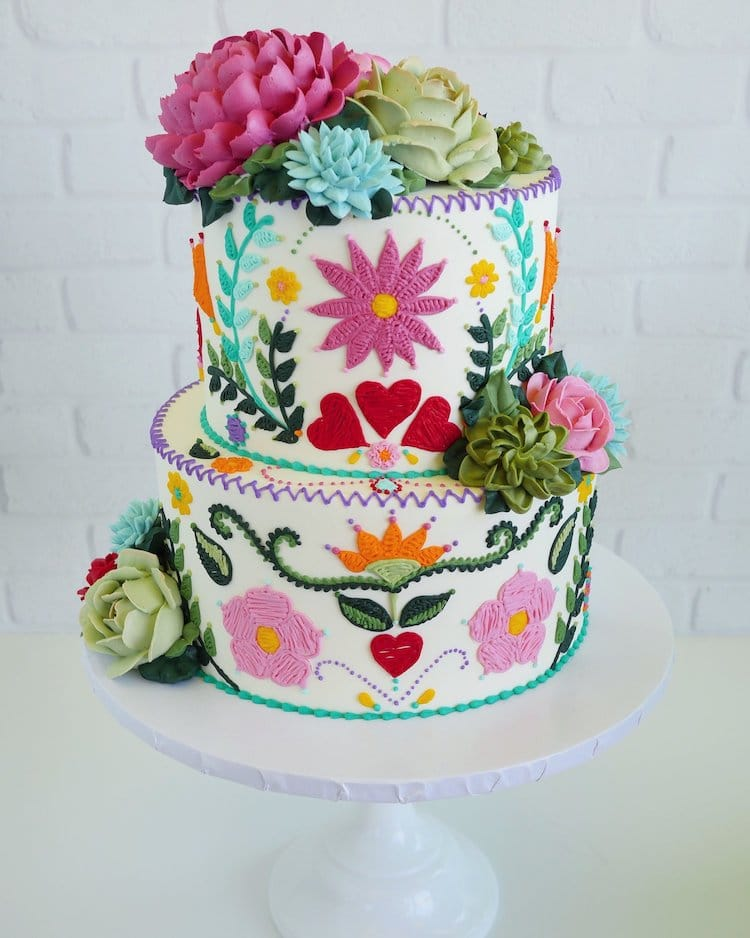 Embroidery Cakes