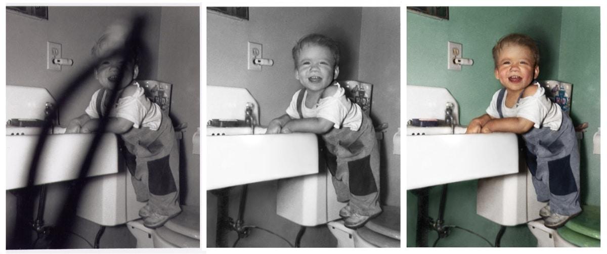 Restauración de fotos antiguas por Michelle Spalding