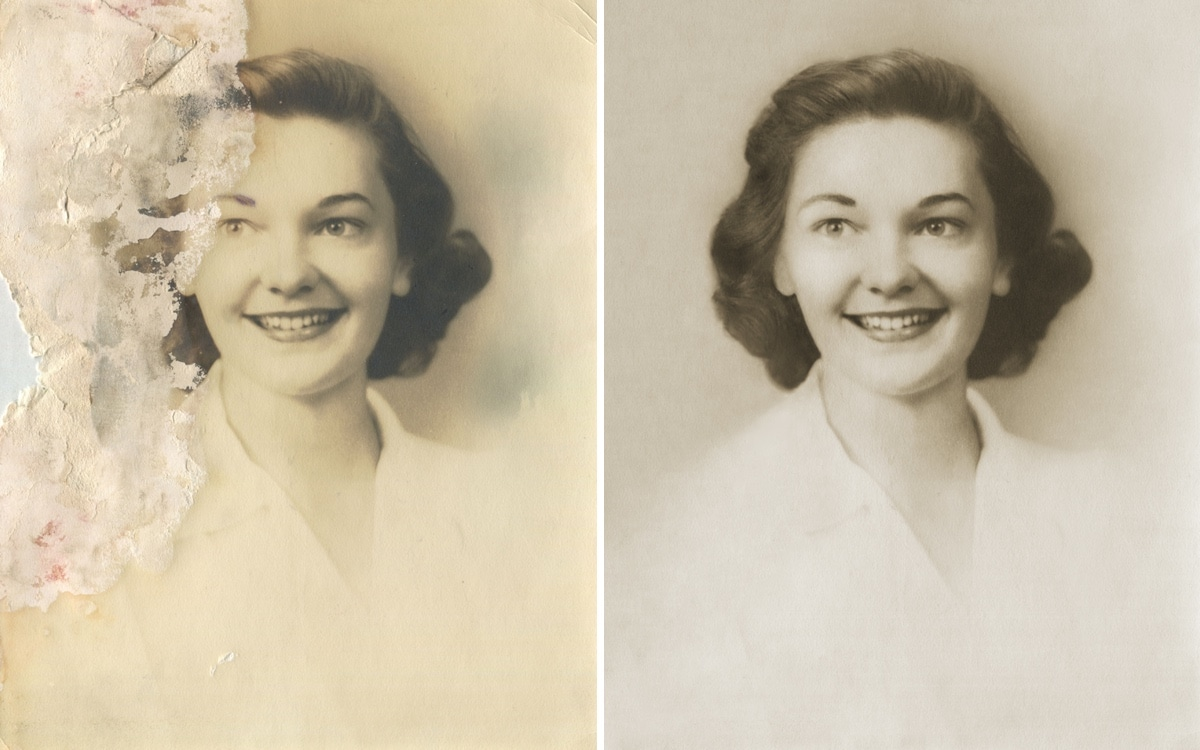 Vintage Photograph Restored by Michelle Spalding