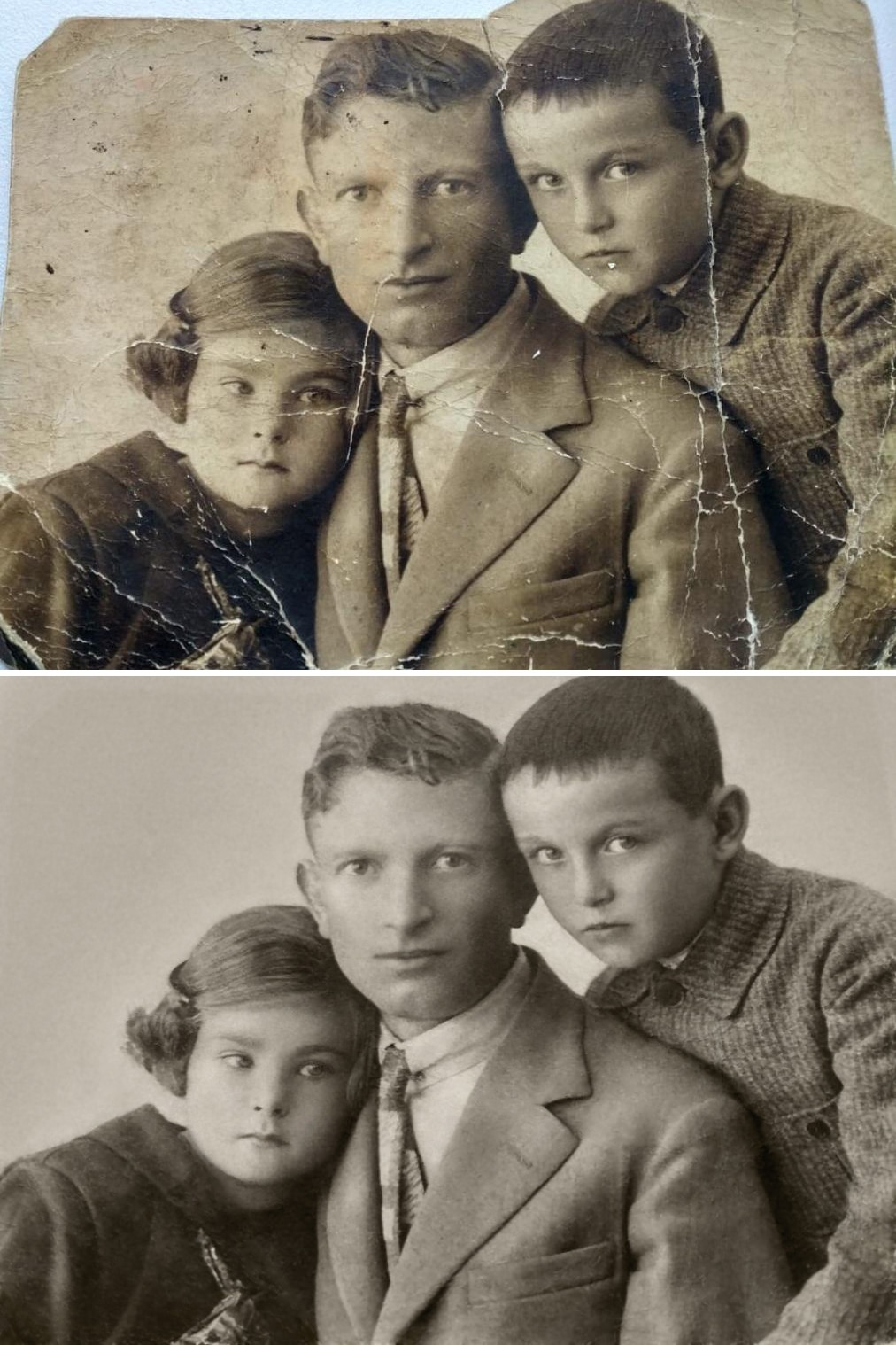 Family Photo Restored by Michelle Spalding