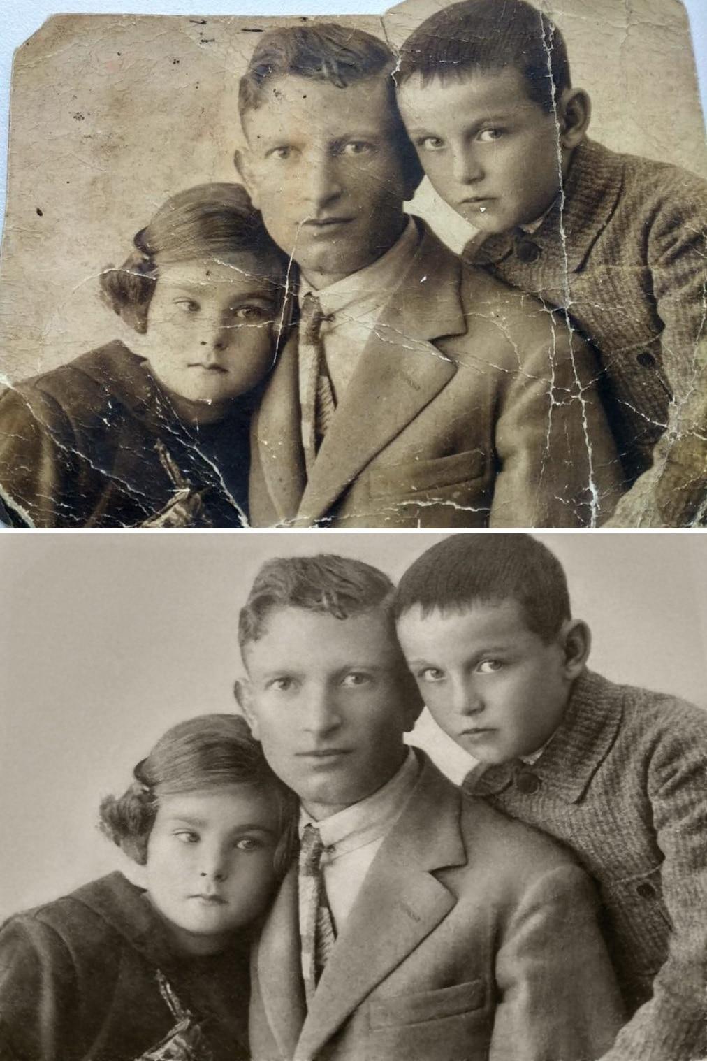 Restauración de foto familiar por Michelle Spalding