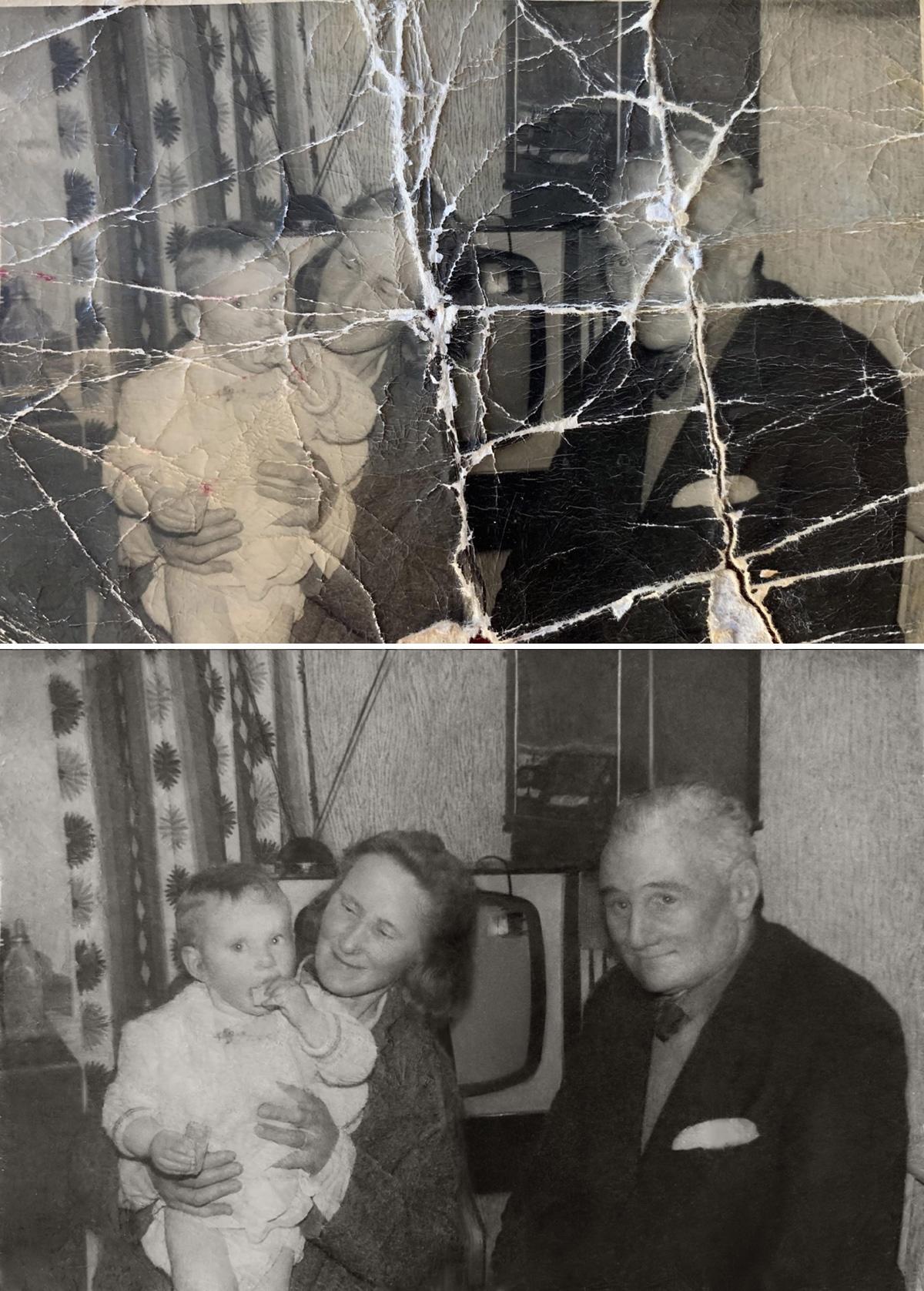 Trabajo de restauración de fotos antiguas de Michelle Spalding