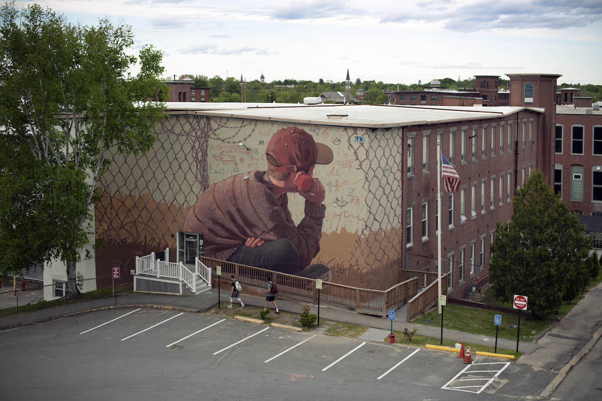 Opening Lines Mural Project in Maine and Iraq by Pat Perry