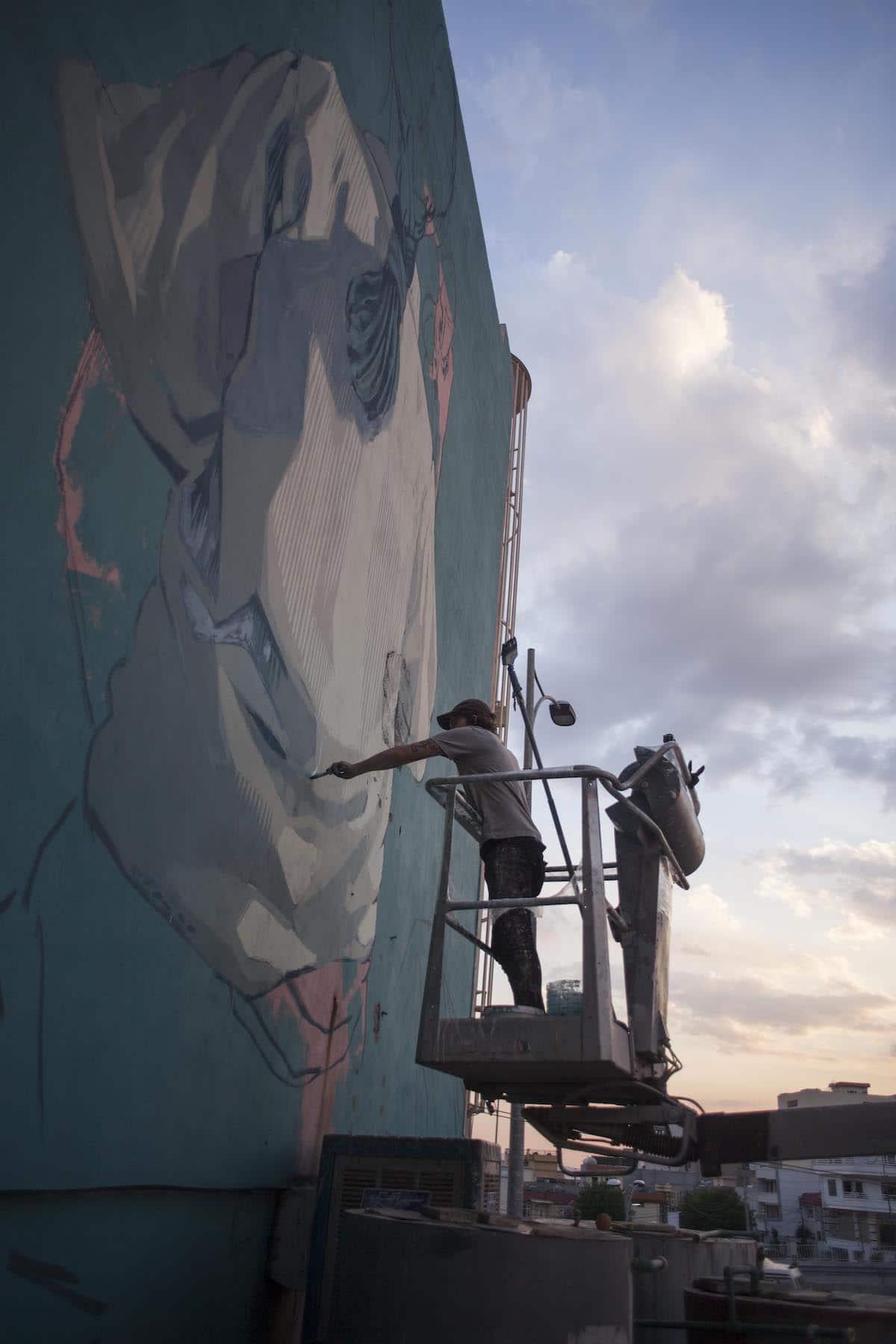 Collaborative Mural in Iraq